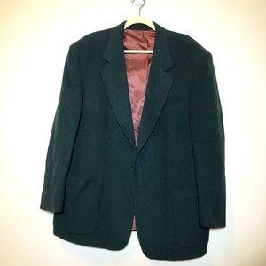 Vintage Park Row Men wool cashmere hunting blazer